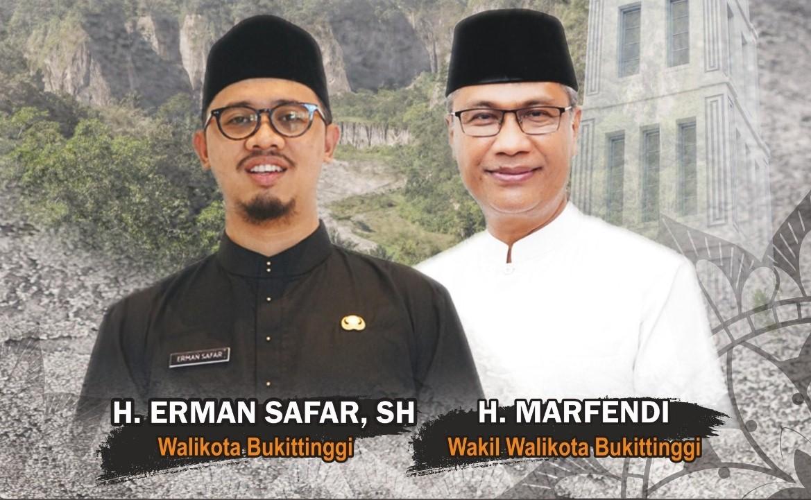 Foto Wali Kota Buittinggi, Erman Safar dan Wakil Wali Kota, Marfendi. [foto : ist]